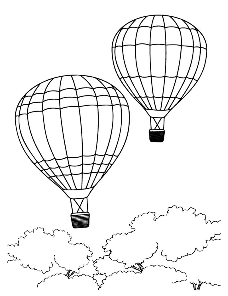 Gambar  Mewarnai Balon  Udara  Untuk Anak PAUD dan TK