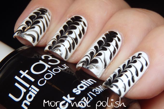 40 Great Nail Art Ideas - Black and White ~ More Nail Polish