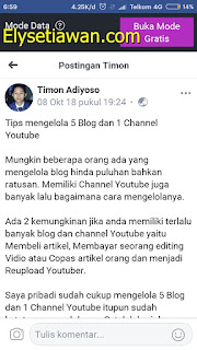 tips mengelola blog dan youtube ala mastimon