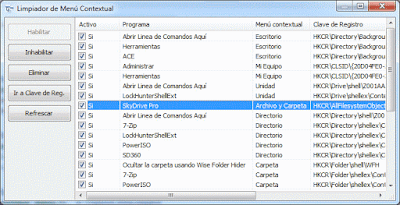 Limpiador de menu contextual