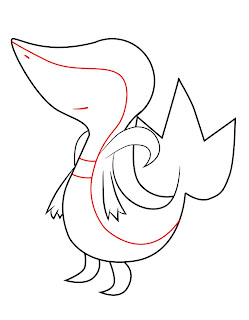 How To Draw Snivy Step 5