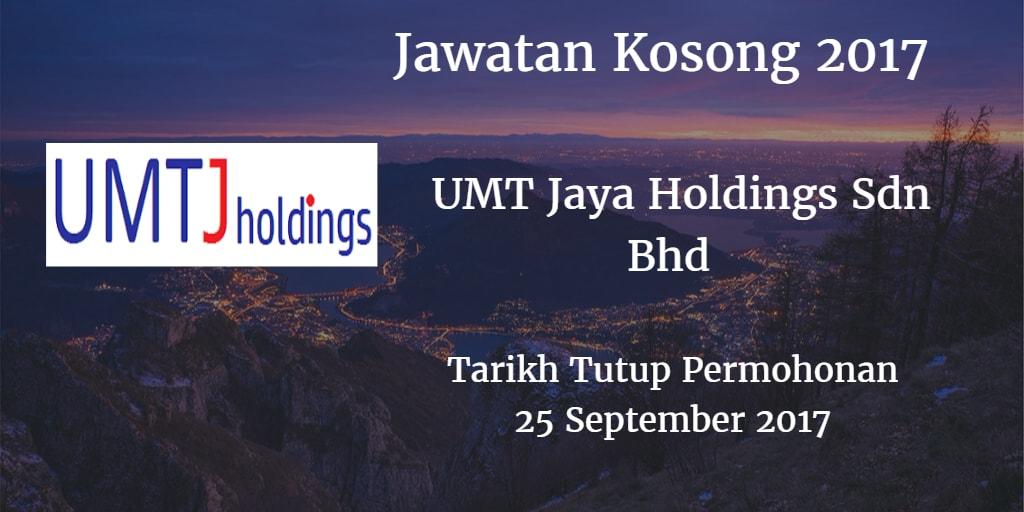 Jawatan Kosong UMTJ 25 September 2017