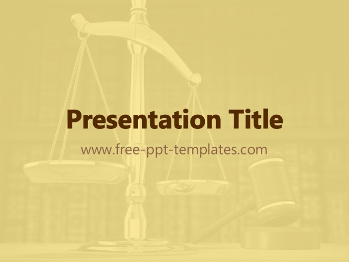 law ppt template