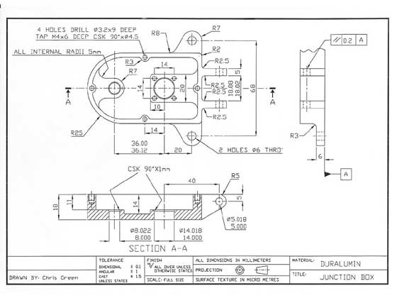 Cnc Engineering Link Engineering Drawing