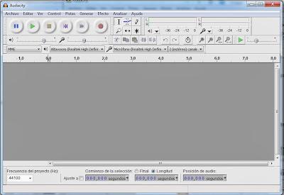 Imagen Audacity, Imagen Editor de audio, Foto Software libre, Foto aplicación multiplataforma, Imagen grabar audio, Imagen mezclar pistas, Foto efectos de audio, Foto Ventana Principal