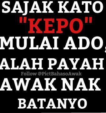 Meme Bahasa Minang Lucu Via  @PictBahasoAwak