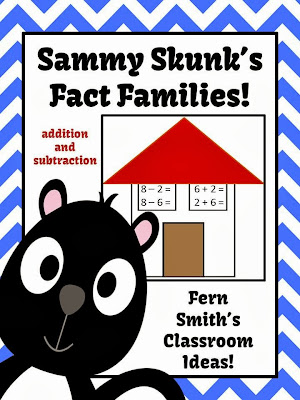 Fern Smith's Classroom Ideas Addition & Subtraction Fact Families Center Game & Interactive Notebook Activity