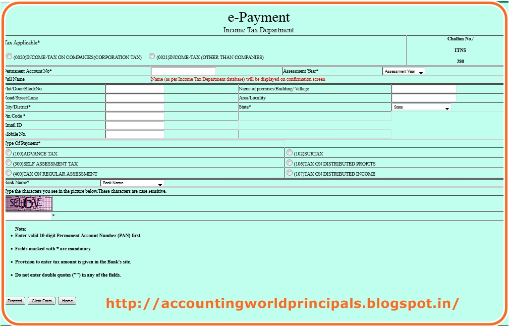 How to Pay Advance Tax (CHALLAN 280) through Online