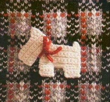 Patrón #1384: Figura de Perro a Crochet