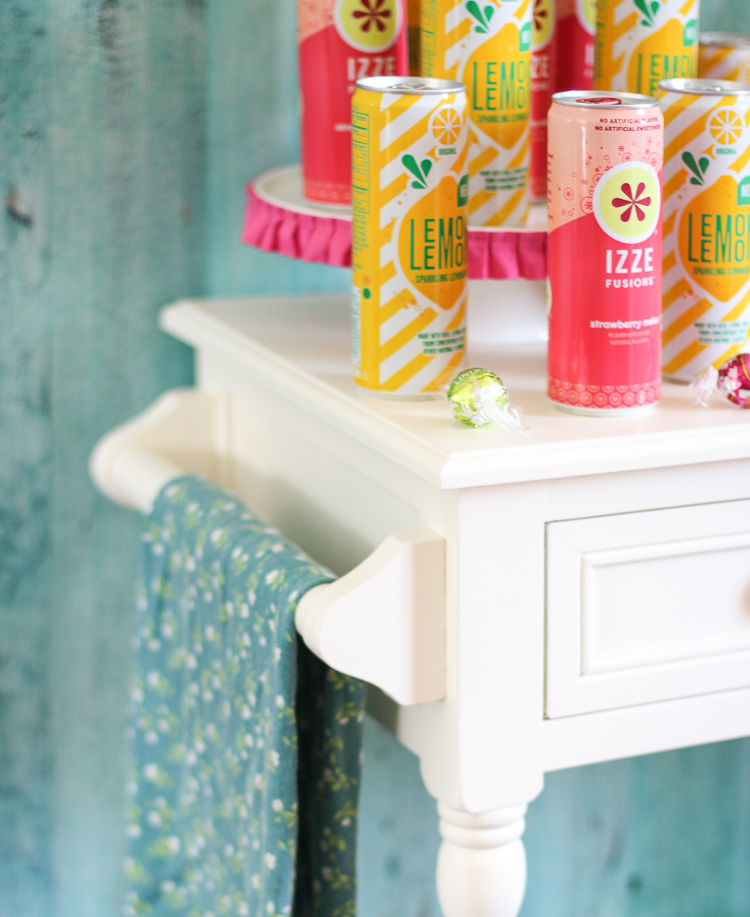 Add a pop of color to your next party with this fun watermelon and lemonade themed drink station