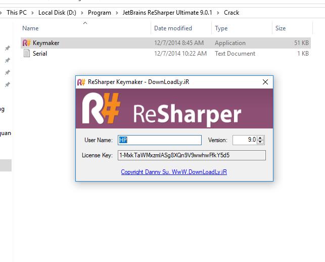 RESHARPER LICENSE - Resharper License key
