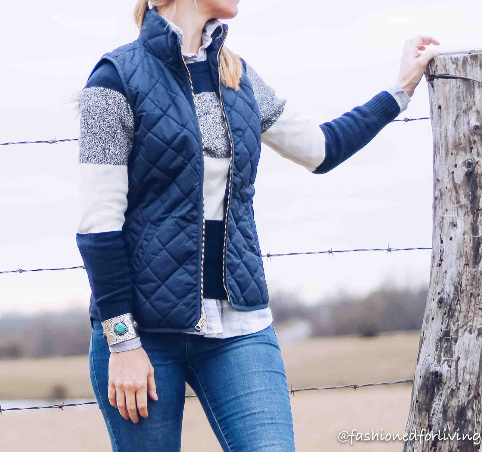 3920bd5775d quilted vest - Old Navy - similar here stripe sweater - Gap Factory  (recent) - similar here flannel - Old Navy - here high waisted skinny jeans  ...