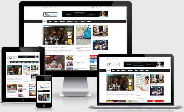 Raintimes News And Magazine Responsive Blogger Templates