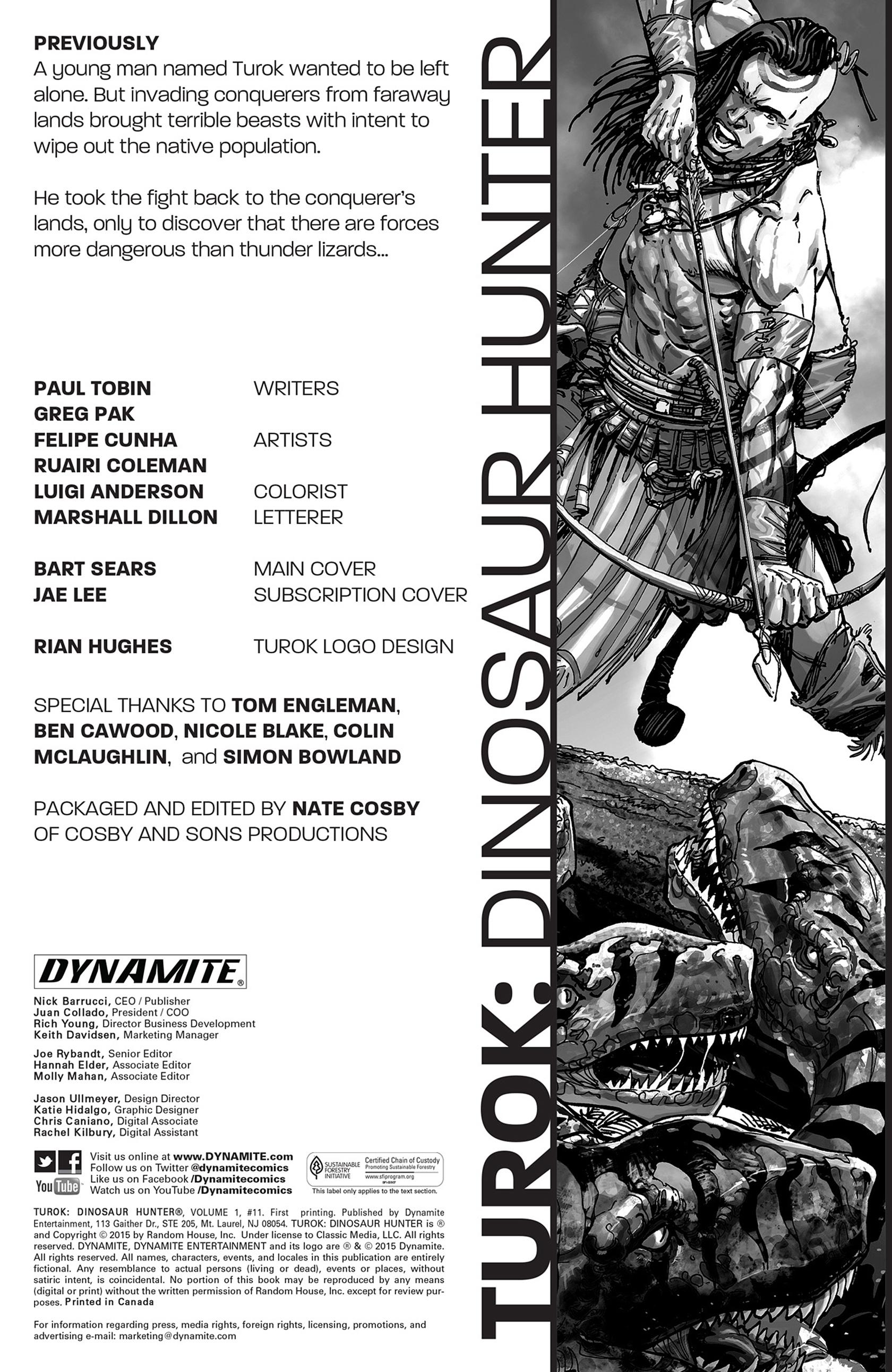 Read online Turok: Dinosaur Hunter (2014) comic -  Issue #11 - 2