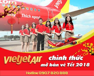 Vietjet Air chính thức mở bán vé máy bay Tết 2018