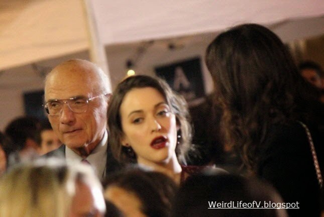 Kat Dennings arriving at the premiere