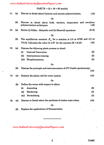 CY6151 Engineering Chemistry I April May 2017 Question Paper