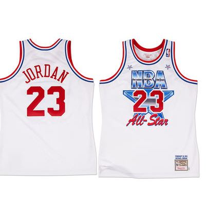100% authentic 246aa ce2e7 Chicago Bulls Michael Jordan Mitchell   Ness White 1991 All-Star Hardwood  Classics Authentic Jersey