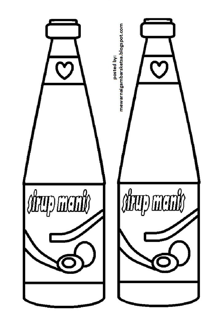 Mewarnai Gambar Botol : mewarnai, gambar, botol, Mewarnai, Gambar:, Gambar, Sketsa, Botol, Sirup