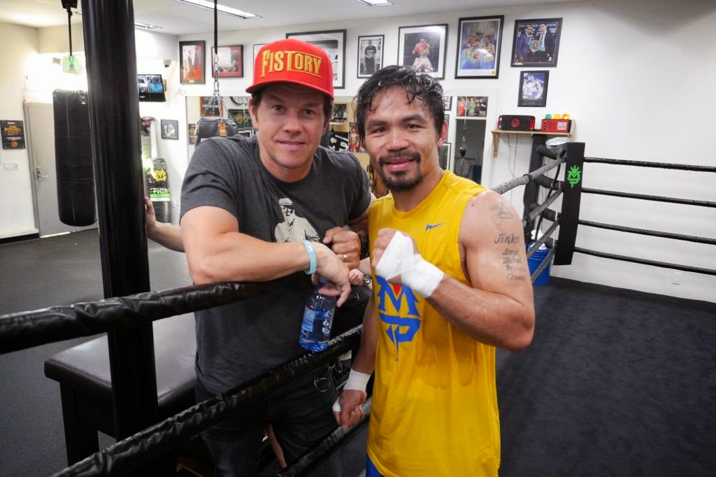 Mark Wahlberg and Manny Pacquiao