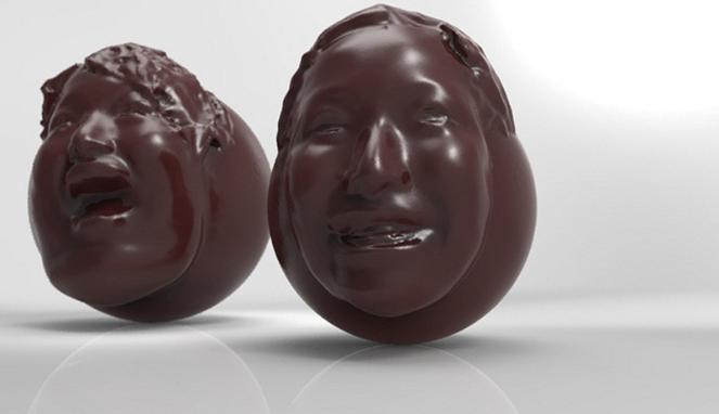 Cokelat Bentuk Ekspresi Manusia? Aneh tapi Nyata!