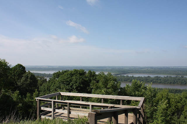 Perched up on McAdams Peak, hikers at Pere Marquette are reward with an incredible view of the Illinois River