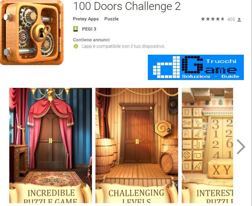 Soluzioni 100 Doors Challenge 2  livello 41 42 43 44 45 46 47 48 49 50 | Trucchi e  Walkthrough level