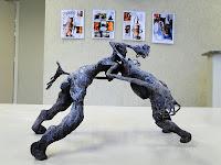 """Fábio Purper Machado, """"Ruído"""" e """"ConDominio"""", exposição """"Micronarrativas de Papel"""", esculturas-HQ e HQs-escultura, 2012."""