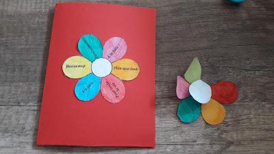 très belle carte bricolage atelier créatif enfant fete pere mere cadeau maitresse atsem
