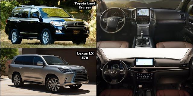 2016 Toyota LandCruiser vs 2016 Lexus LX570 noi that -  - Toyota Land Cruiser và Lexus LX570 2016 thế hệ mới : Chọn bền bỉ hay thương hiệu