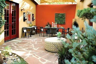 Orange For Colorful Backyard Decorating Ideas
