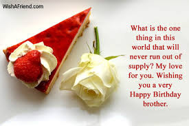 Happy Birthday wishes for brother: what is the one thing in this world that will never run out of supply