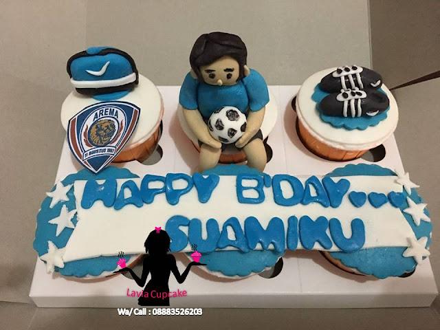 Cupcake Ultah Singo Edan Arema