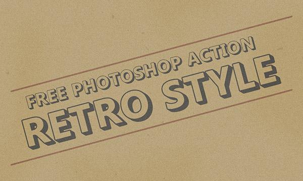 Free Retro Style Effect Photoshop Action