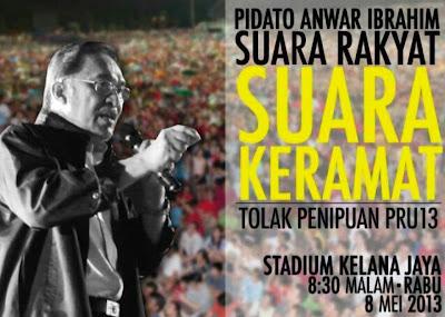 """PERHIMPUNAN """"SUARA RAKYAT SUARA KERAMAT"""" 8 MEI 2013 (LIVE"""