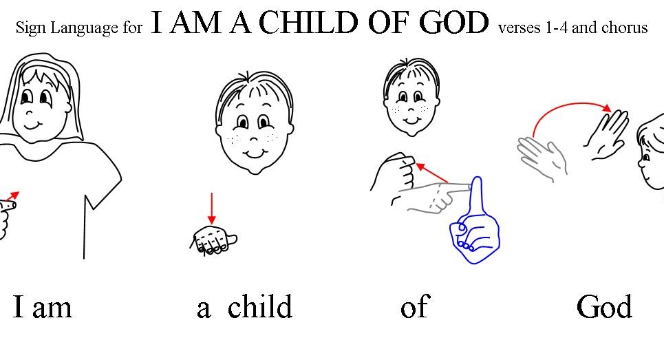 a simple dimple i am a child of god with sign language auto