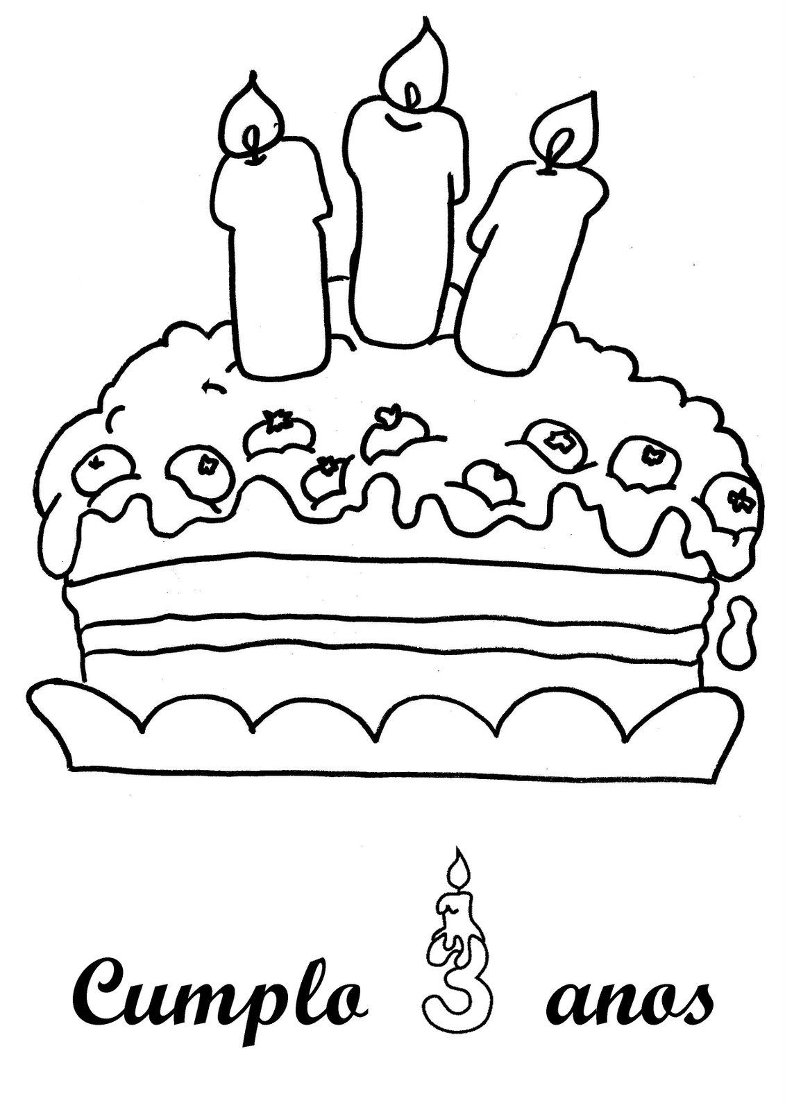 Imagenes De Cumpleaños Para Colorear