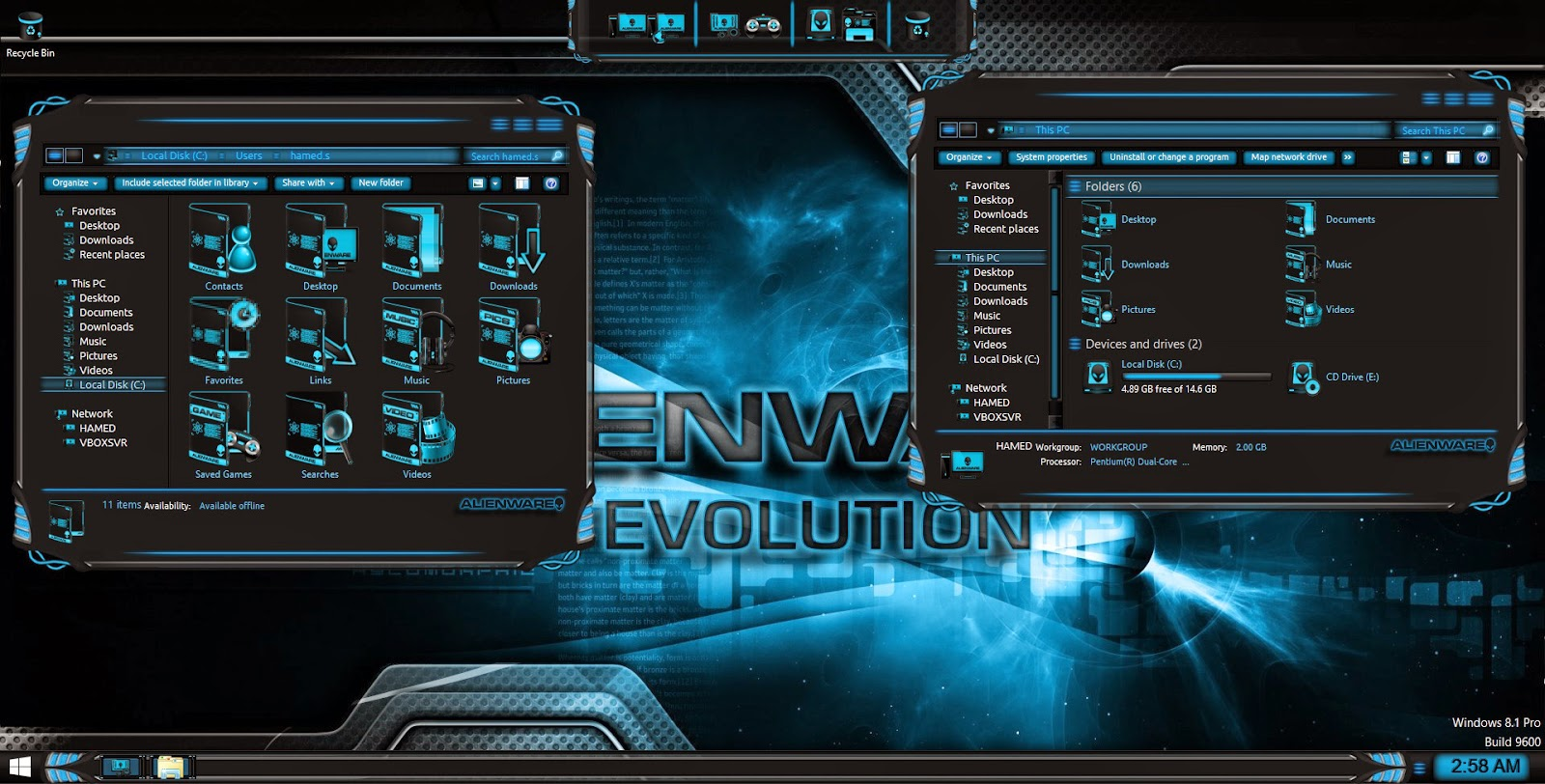 skins alienware para windows 7