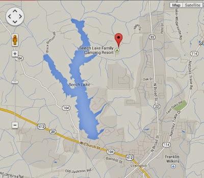 Beech Lake, TN map