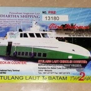 Penyebrangan Ferry Batam - Johor