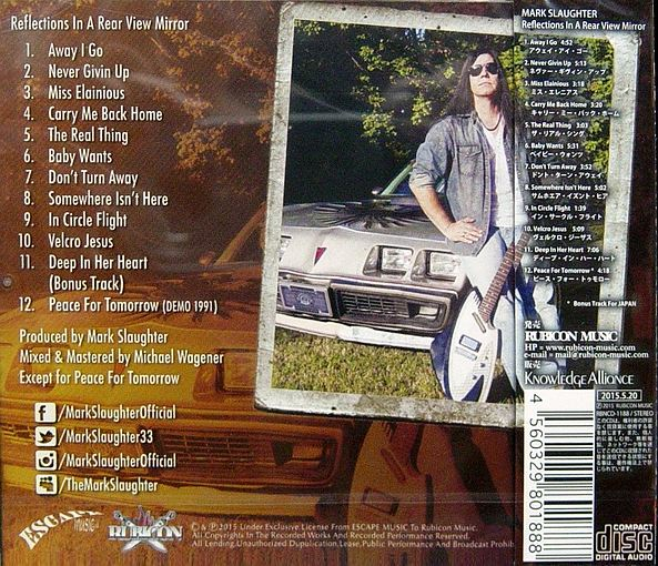 MARK SLAUGHTER - Reflections In A Rear View Mirror [Japan Edition +1] back