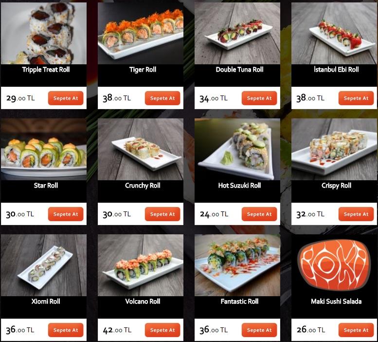 ioki restaurant menü ve fiyat listesi