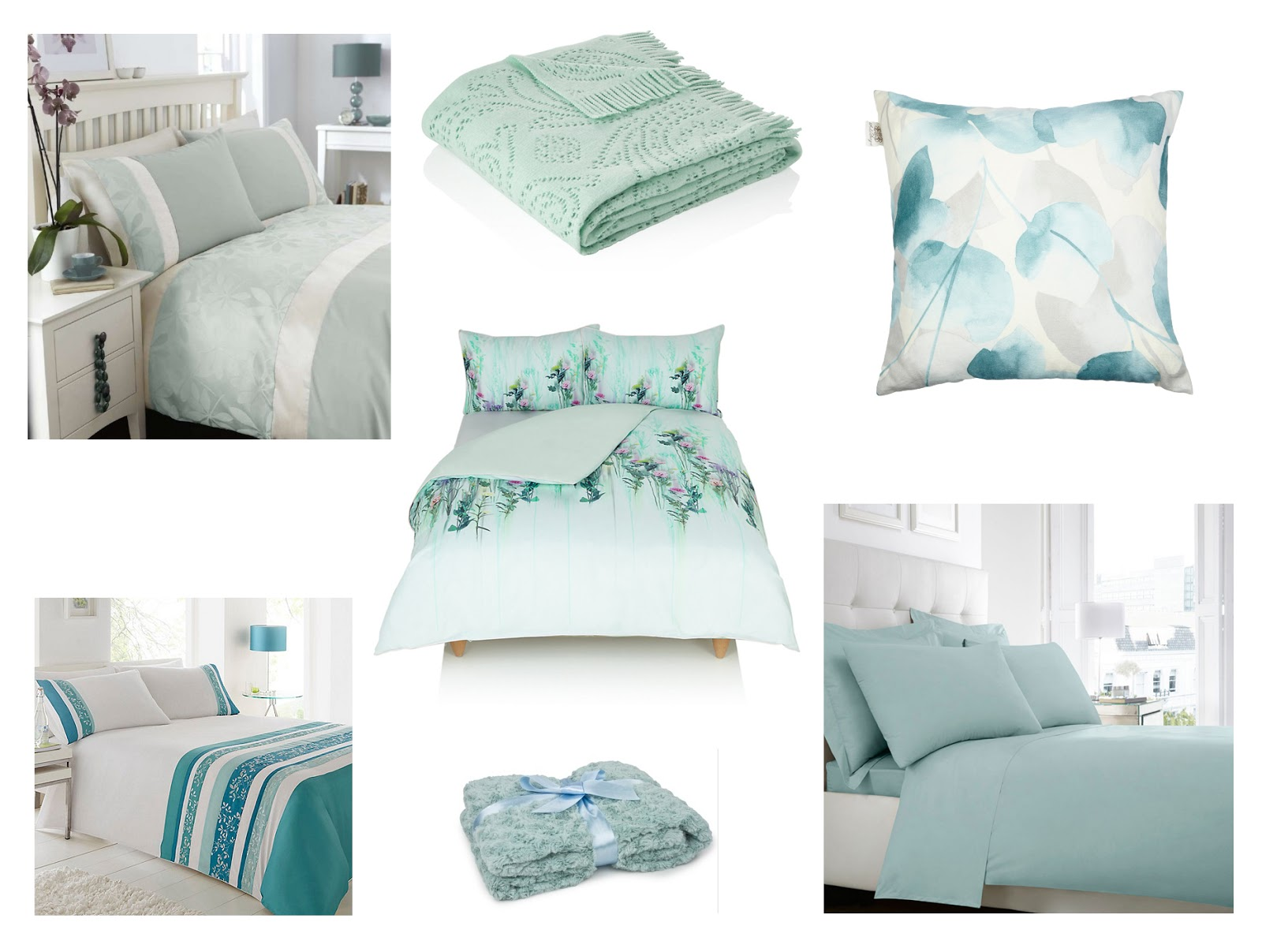 Bedding For Changing Your Bedroom Atomsphere: Blue Moodboard | Katie Kirk Loves