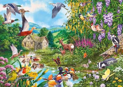 Gambar Lukisan Flora dan Fauna Indah Cantik Wallpaper HD