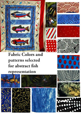 quilt fabricks selected for design