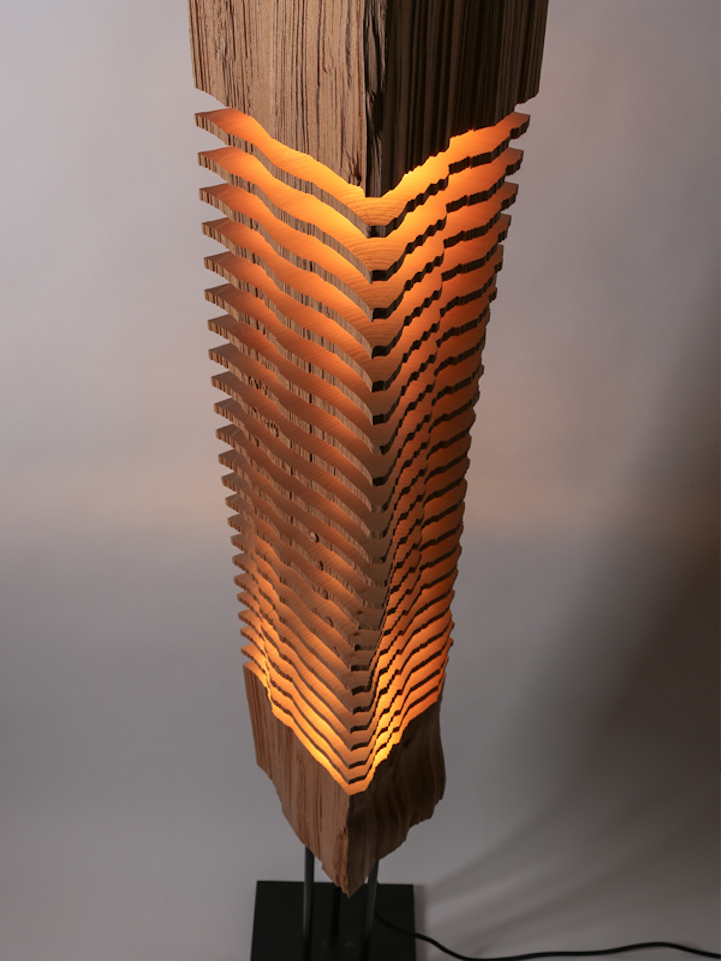 Sliced Sculpture Lamps Highlight the Natural Beauty of Firewood