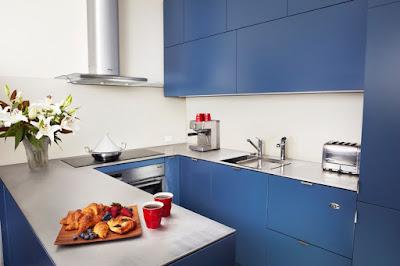 Arbeitsplatte Küche Blau