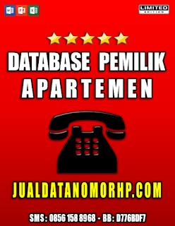 Jual Database Pemilik Apartemen Seindonesia