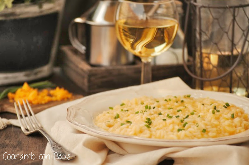"""Risotto de queso cheddar de Nigella Lawson y """"Directas al grano""""-cocinando-con-neus"""