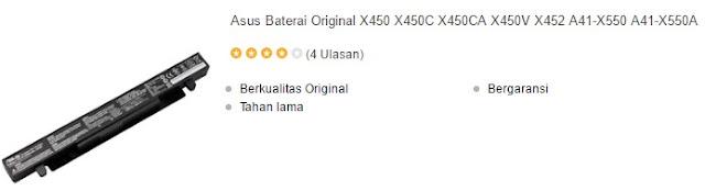 harga laptop laptop asus x450 series
